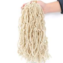 Faux Locs Crochet Hair 6Pcs Natural Soft Locs Crochet Braids Pre Looped Synthetic Goddess Locs Braiding Hair (14Inch, #613)