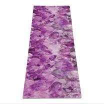 YOGA DESIGN LAB   Commuter Yoga Mat   2-in-1 Mat+Towel   Lightweight, Foldable, Eco Luxury   Ideal for Hot Yoga, Bikram, Pilates, Barre, Sweat   1.5mm Thick   Includes Carrying Strap!…