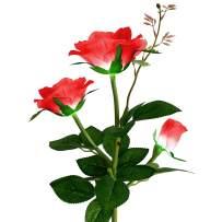 Homeleo Outdoor Solar Rose LED Stake Lights, Solar Powered Rose Flower Lights for Garden Back Yard Patio Decoration - Red