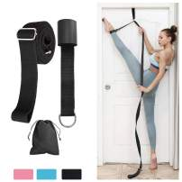 QcoQce Door Leg Stretcher, Newest Adjustable Flexibility Split Stretcher Leg Trainer, Ballet Lengthen Leg Stretch Strap Great for Cheer Dance Gymnastics Taekwondo Sports Stretching Equipment