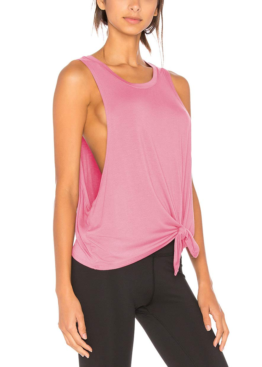 Bestisun Workout Yoga Tops Gym Exercise Clothes Muscle Tank Racerback Running Tank Tops for Women