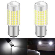 KATUR 1157 BAY15D 7528 1016 LED Bulb High Power 3014 Chips Extremely Bright 3000 Lumens 6500K Xenon White Replace for Back up Reverse Brake Tail Turn Signal Lights,(Pack of 2)