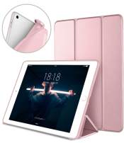 DTTO iPad 9.7 Case 2018 iPad 6th Generation Case / 2017 iPad 5th Generation Case, Slim Fit Lightweight Smart Cover with Soft TPU Back Case for iPad 9.7 2018/2017 [Auto Sleep/Wake] - Rose Gold