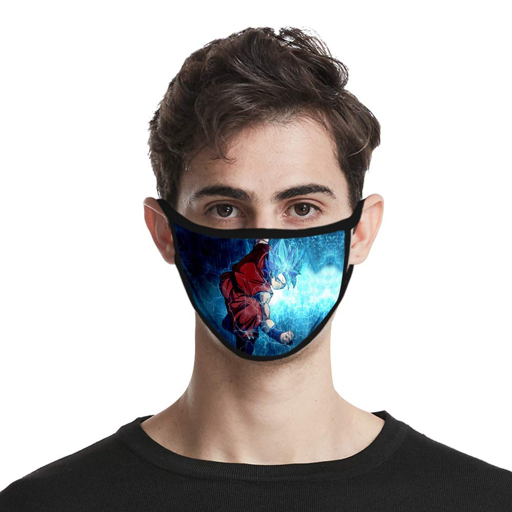 COOLINKO Anime Face Covering - Reusable Washable Anti Dust Cotton Mouth Protector Mask - Japanese Cartoon Fashion Cosplay Muffle Guard (#04)