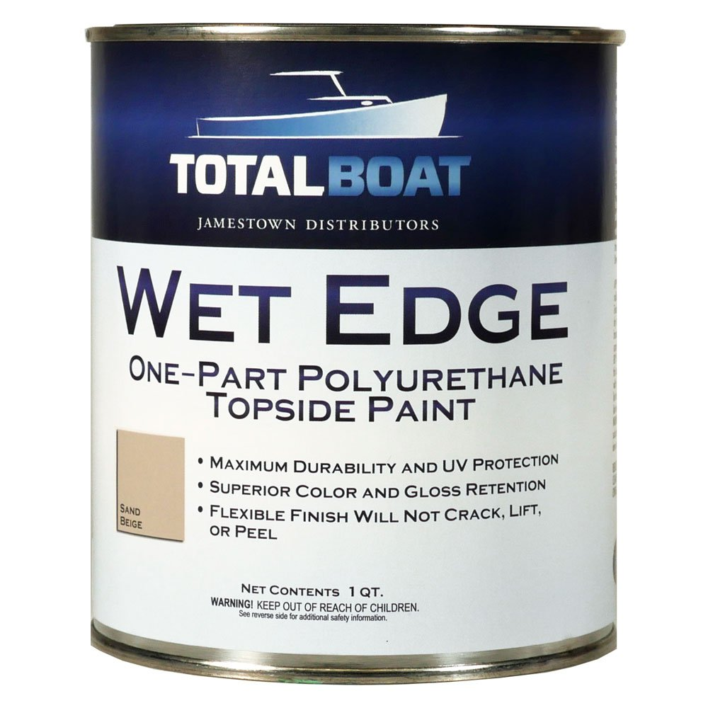 TotalBoat Wet Edge Topside Paint (Sand Beige, Quart)