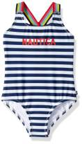 Nautica Girls One Piece Swimsuit with UPF 50+ Sun Protection