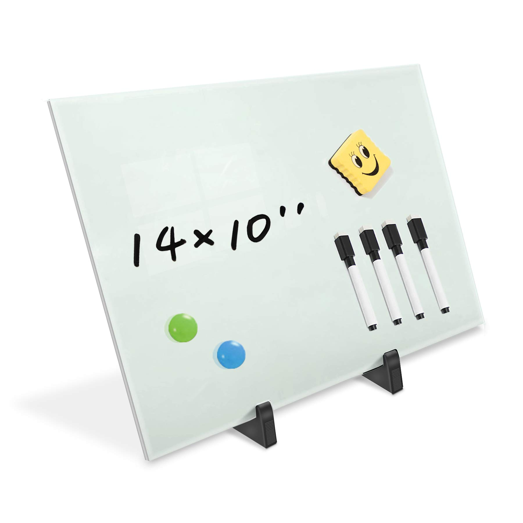 Zhidian Small Glass Dry Erase Board Desktop Easel 10 X 14 Inches Magnetic Glass Whiteboard On Stand For Table Desk Great For Office Home Stain Resistant Tempered Glass