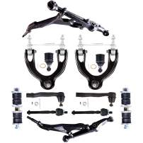 ECCPP Front Lower Upper Control Arm And Ball Joint Sway Bar End Link Outer Inner Tie Rod End fit for 1994-2001 Acura Integra 1992-1997 Honda Civic Del Sol 1993-1995 Honda Civic 12pcs K90449 K90123
