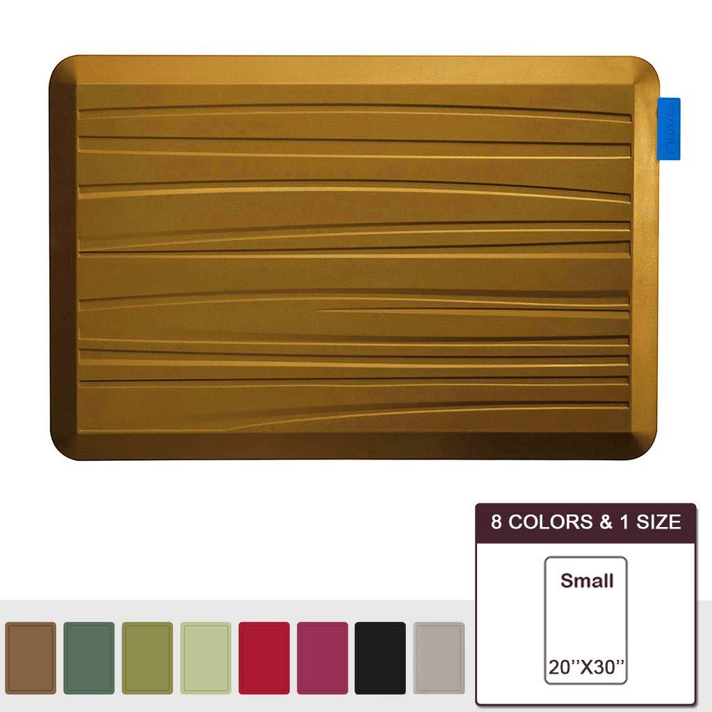 NUVA Premium Standing Floor Mat 30 x 20 in, NO PVC!!! 100% PU Comfort Ergonomic Material, 4 Non-slip PU Elastomer Strips on Bottom(Light Brown, Beach Pattern)