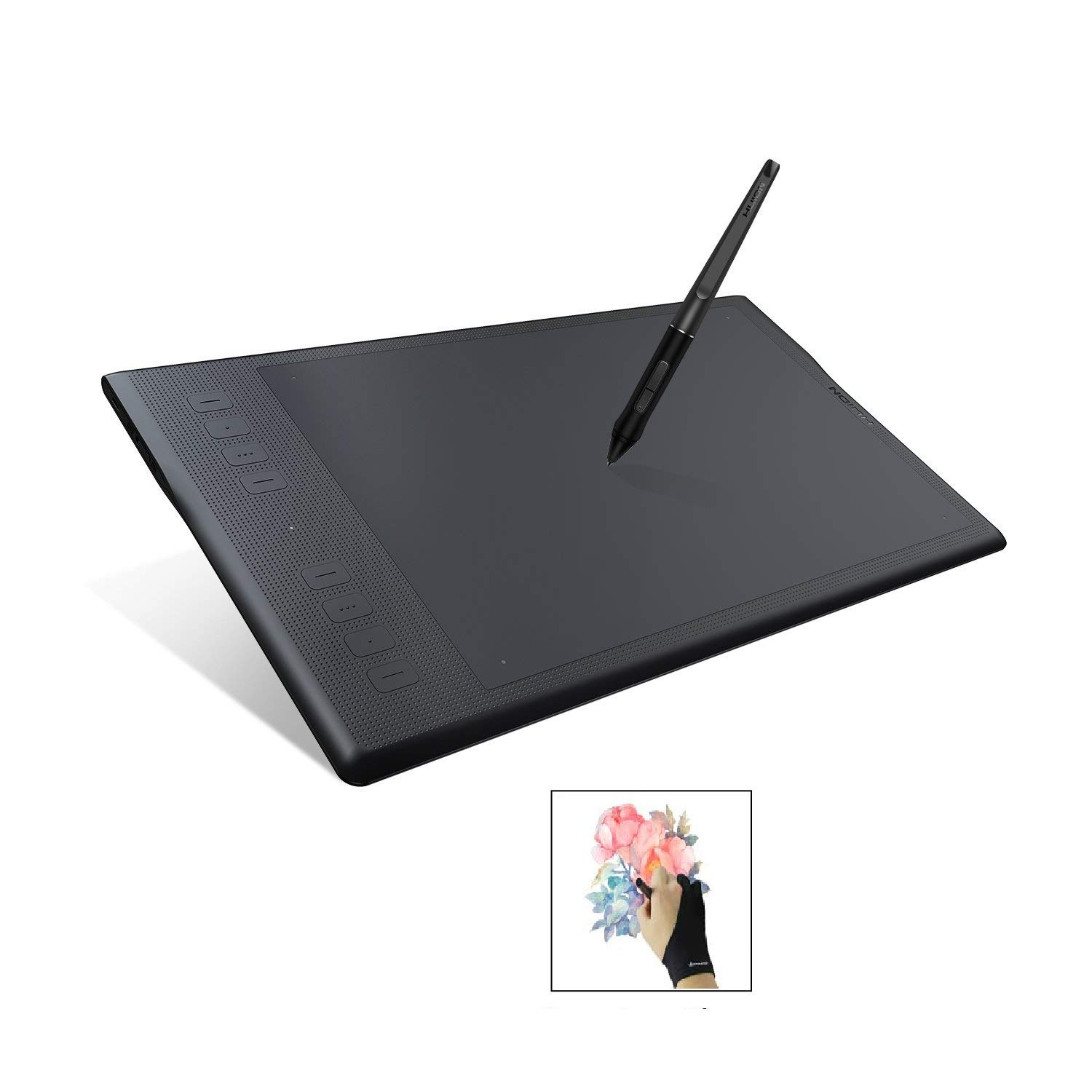 Huion INSPIROY Q11K V2 Wireless Graphics Drawing Pen Tablet with Tilt Feature Battery-Free Stylus, 8192 Levels of Pressure, 8 Express Keys