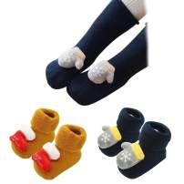 Ehdching Pack of 3/6 Baby Kids Cartoon Christmas Holiday Toddler Children's Socks