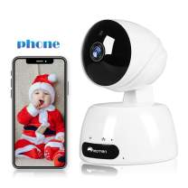 Baby Monitor Camera, WiFi Home Security Camera, 1080p Pet/Dog/Nanny Home Camera with App for Phone, Pan/Tilt/Zoom IP Camera with Night Vision, 2-Way Audio, Motion Detection, Cloud/SD Support