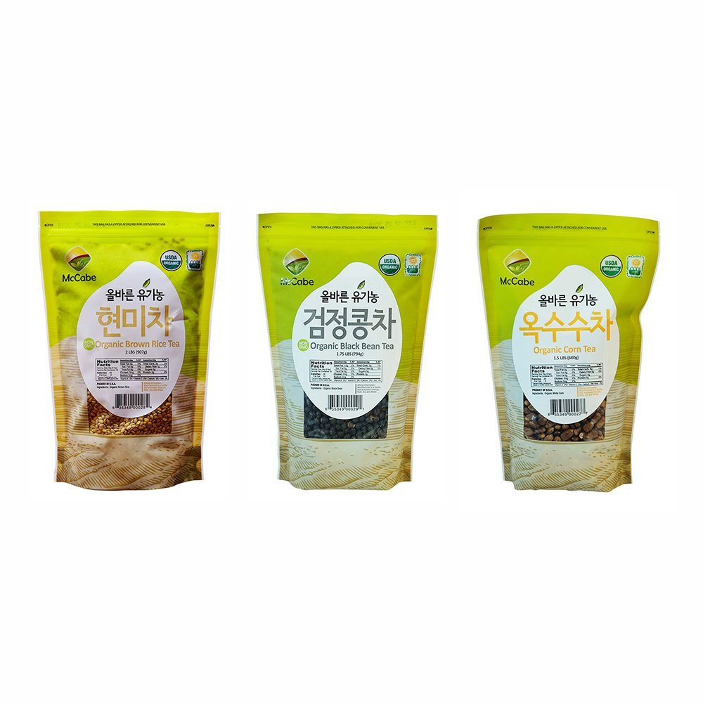 McCabe Organic Tea, 1.5-Pound (3-Pack) (Corn Tea, Black Bean Tea, and Brown Rice Tea)