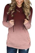 QUEEN PLUS Women's Hoodie Sweatshirts Long Sleeve Casual Tunic Tops Drawstring Neck Shirts with Pockets