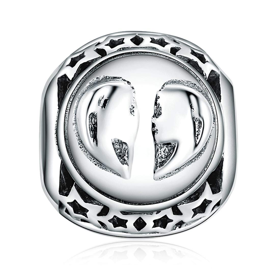 ChicSilver Zodiac Sign Charms for Charm Bracelets - 925 Sterling Silver 12 Constellation Charms Beads DIY for Bracelet Necklace, Birthday Gifts for Women/Men(with Gift Box)