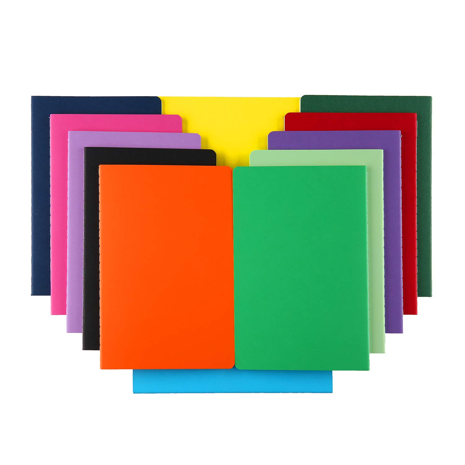 XYark 12 PCS Colorful Blank Notebook Journals Bulk, 60 Pages, 5.5 x8.3 inch, A5 Unlined Travel Journal Set for Travelers, Kids, Students and Office, Writing Drawing Sketchbook Diary Subject Notebooks