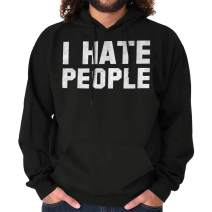 Brisco Brands I Hate People Antisocial Humor Introvert Hoodie