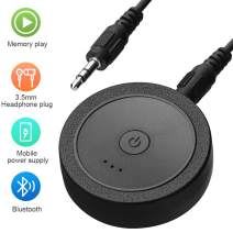 GIARIDE Portable Bluetooth 4.1 Transmitter Receiver (AptX for Both TX & RX, Low Latency, 2 Devices Simultaneously) 2-in-1 Wireless 3.5mm Aux Adapter for TV PC Car Speakers Audio Music Sound System