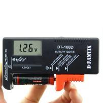 D-FantiX Digital Battery Tester for AAA AA C D 9V 1.5V, Household Battery Checker Tester for Small Batteries Button Cell (Model: BT-168D)