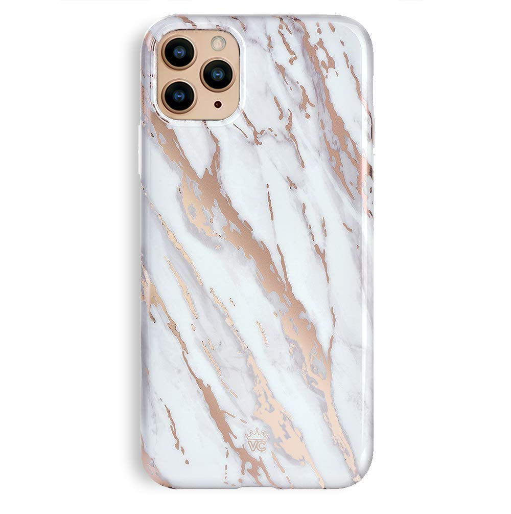 Velvet Caviar Compatible with iPhone 11 Pro Max Case for Women & Girls - Cute Protective Phone Cases (White Marble Rose Gold)