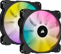 CORSAIR iCUE SP140 RGB Elite Performance 140mm PWM Dual Fan Kit with Lighting Node CORE