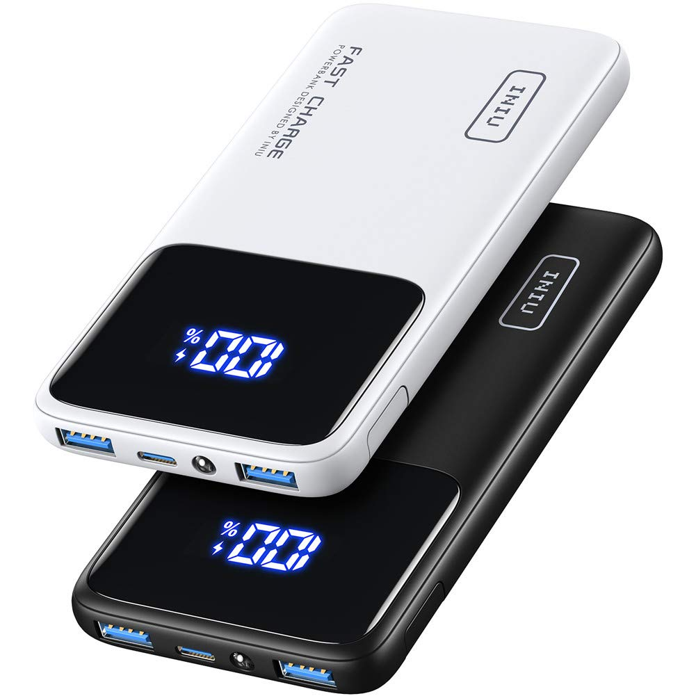 [2 Pack] INIU Portable Charger, 20W PD3.0 QC4.0 USB C Fast Charging 10500mAh LED Display Power Bank, Battery Pack with Phone Holder for iPhone 12 11 X 8 Samsung S20 Google LG AirPods iPad Tablet etc.