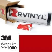 3M 1080 S363 Satin Smoldering RED 5ft x 2ft W/Application Card Vinyl Vehicle Car Wrap Film Sheet Roll