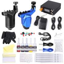 Solong Tattoo Kit Complete Rorary Tattoo Machine Guns with Power Supply 5 Inks Needles Grips TK266