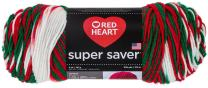 RED HEART Super Saver Yarn, Mistletoe Print