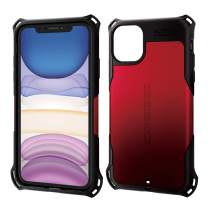 ELECOM Zero Shock Case & Film/Compatible with iPhone 11 / Film Included/Full Protection/Bumper/RED PM-A19CZERORD
