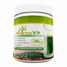 Pure Organic Powder SuperFood Mix - Moringa Spirulina Wheatgrass Kelp - 8oz - $21.99-100% Organic Ingredients