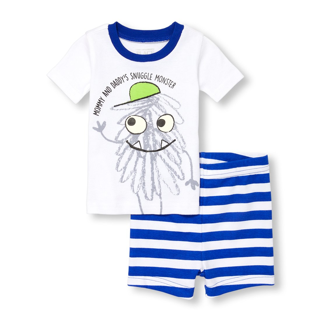The Children's Place Baby Boys' Top and Shorts Pajama Set