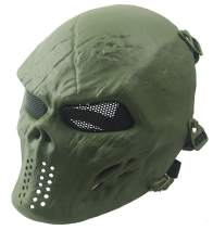 Panegy Mask Skull Warrior Airsoft Mask Full Face Halloween Costume Mask Light Weight Impact Resistant Mask