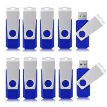 Aiibe 4GB Flash Drive USB Flash Drive 4gb 10 Pack USB 2.0 Thumb Drive Pen Drive Bulk 4GB Flash Drives, Blue