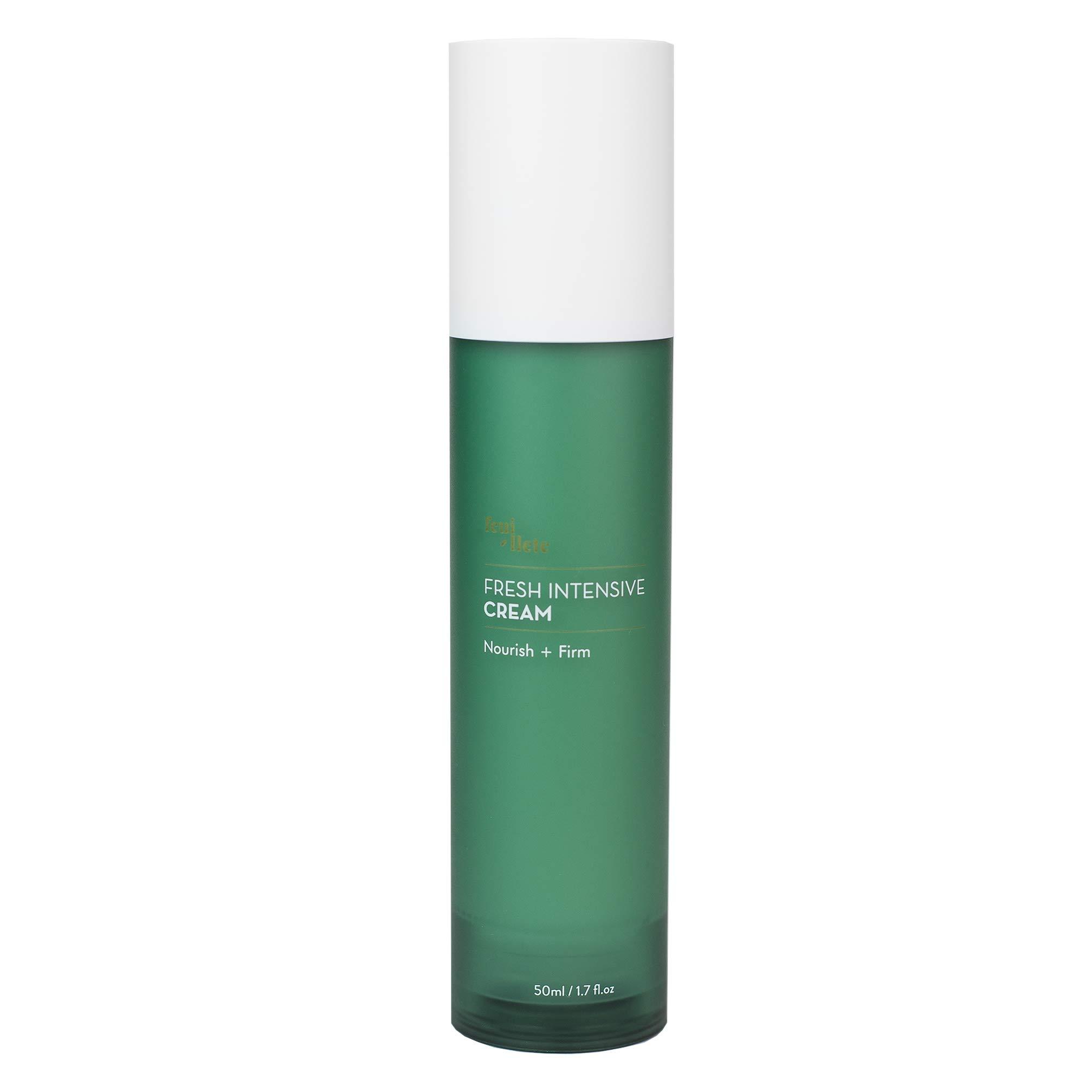 Feuillete Fresh Intensive Cream, 50 ml - Centella Asiatica Ceramide Water Cream Face Moisturizer, Soothing Hydrating Brightening For Sensitive Oily Acne Prone Skin