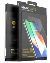 Magglass iPhone 11 Pro Max/iPhone Xs Max Full Coverage Screen Protector, (Shatterproof) Case Compatible Tempered Glass Full Adhesive Glue Edge to Edge Coverage Phone Screen Guard