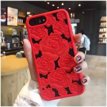 Mixneer New 3D Hollow Rose Soft Silicone Phone Case Compatible with iPhone Xs MAX XR X SE 5S 8 8plus 6 6s Plus 7 7plus Luxury Gel Flower Back Cover (Red,iPhone XR (6.1 inch))