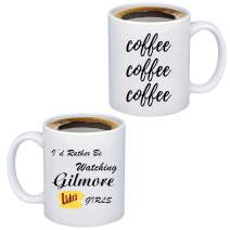 TIIMG Gilmore Girls Coffee Mug Gilmore Fans Girls Merchandise I'd Rather Be Watching Gilmore Girls