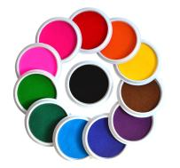 Myboree Washable Large Ink Pads for Kids Crafts Projects Rubber Stamps 12 Colors