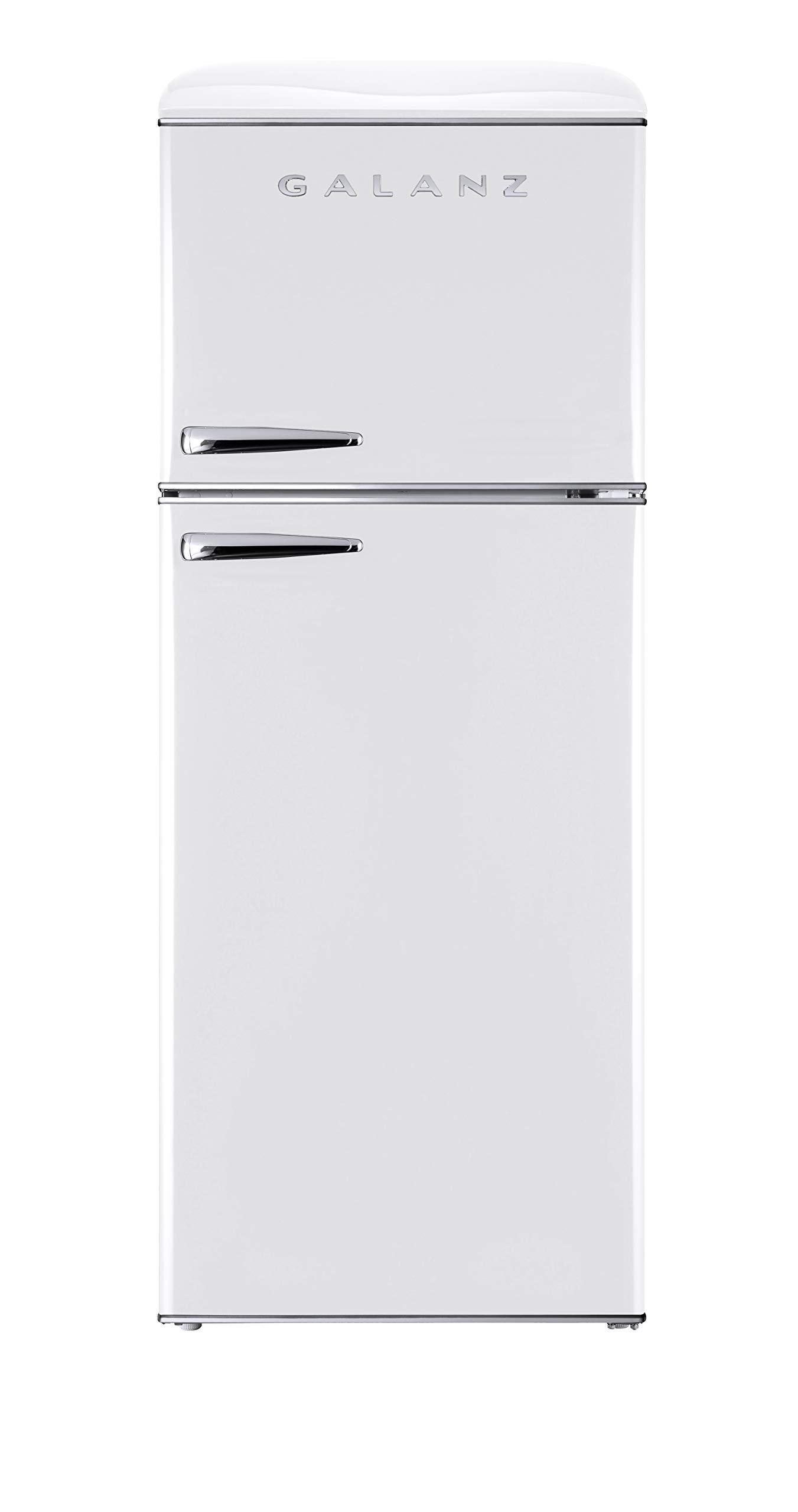 Galanz GLR12TWEEFR Retro Top Mount Refrigerator, 12.0 Cu Ft, White
