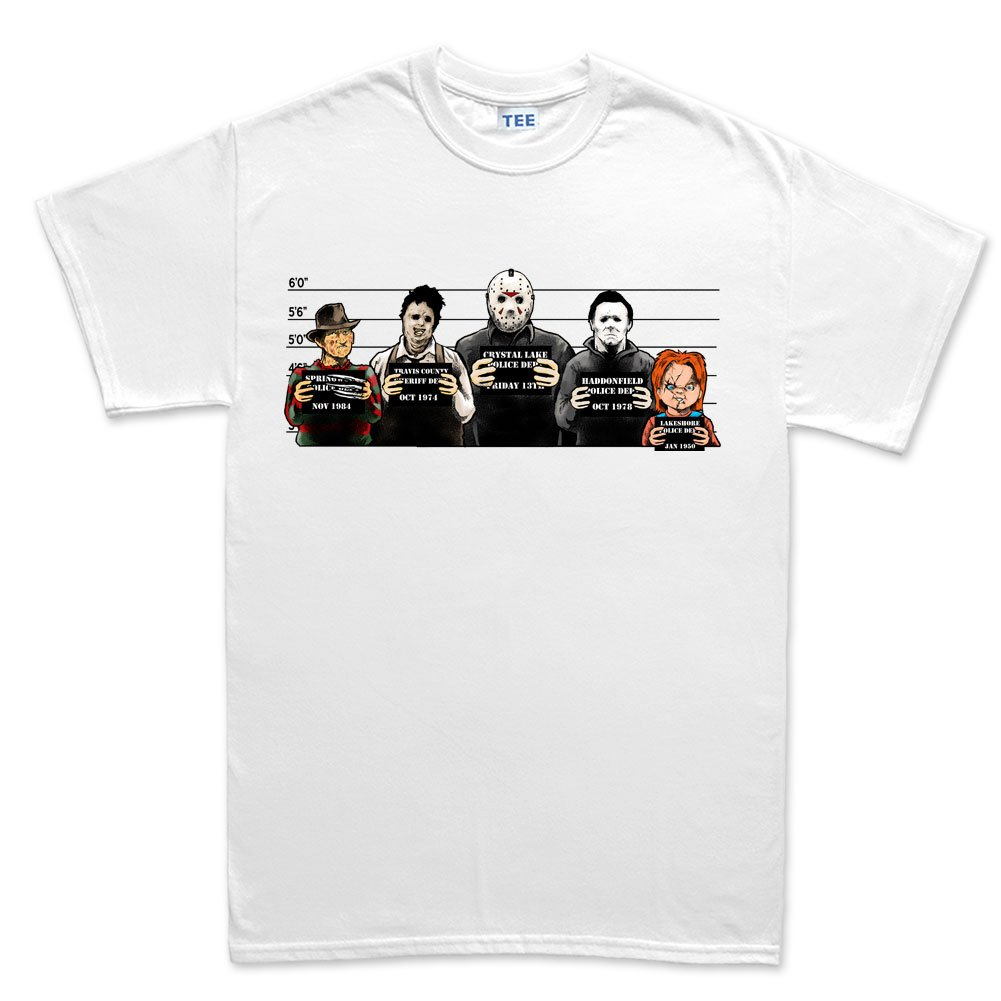 Customised Perfection The Usual Horror Suspects Halloween T Shirt