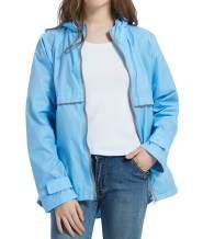 SUNDAY ROSE Women Rain Jacket Lightweight Waterproof Raincoat Hooded Windbreaker