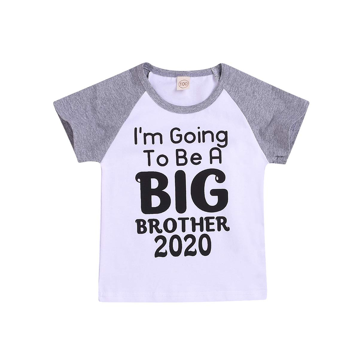 Toddler Kids Baby Boys Tee I'm Going to Be A Big Brother Announcement T-Shirt Short Sleeve Shirt Tops