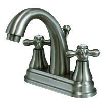 Kingston Brass KS7618AX English Vintage Center Set Lavatory Faucet, 4-3/4-Inch, Brushed Nickel