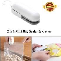 Portable Sealing Machine Sealing Tool Heating Mini Bag Sealer Handheld Plastic Bag Sealing Machine for Storage Food Snack Fresh etc Grey (Battery Not Included)