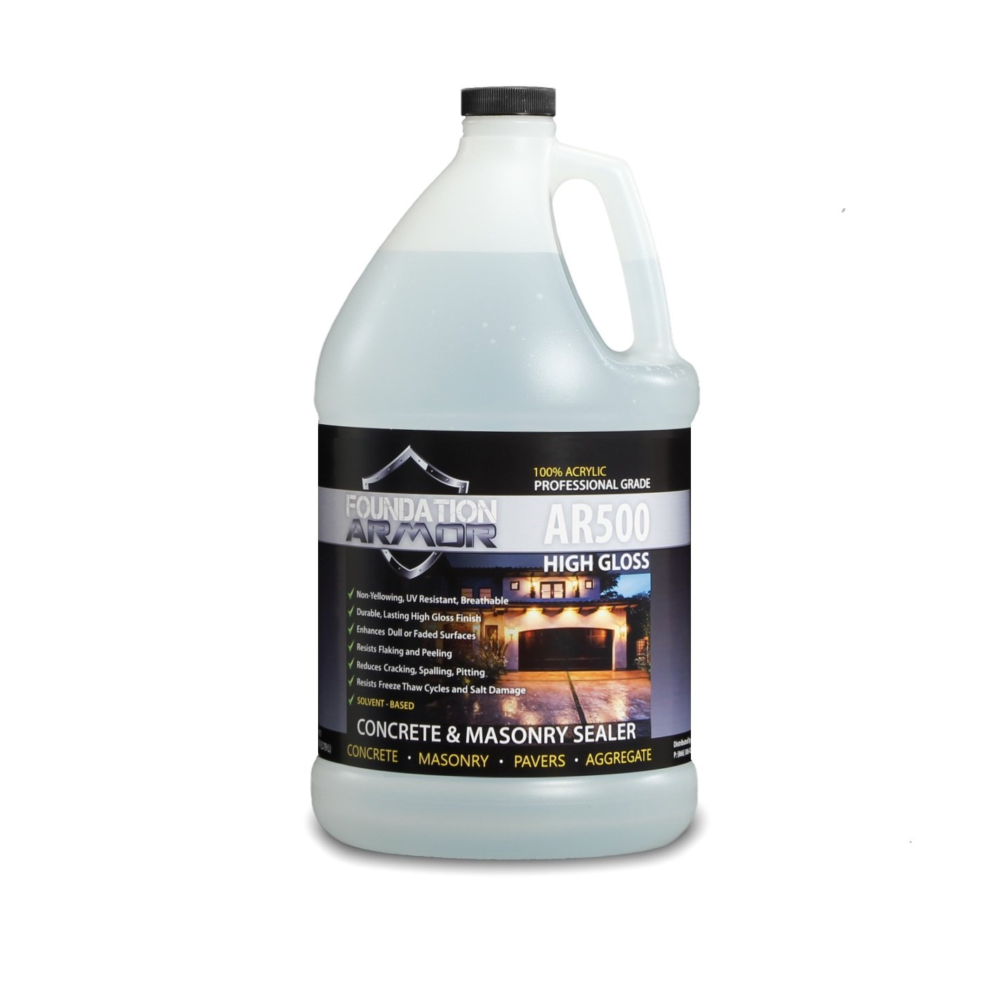 Armor AR500 Solvent Based High Gloss Acrylic Concrete Driveway Sealer