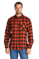 Ci Sono Men's Plaid Flannel Long Sleeve Button Down Contrast Elbow Patch Shirt