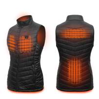 Loowoko Women's Lightweight Electric Heated Vest with USB Battery Pack for Hiking Skiing Fishing