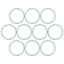 uxcell Fluorine Rubber O Rings, 65mm OD, 61.2mm Inner Diameter, 1.9mm Width, Seal Gasket Green 10Pcs