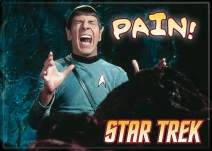 "Ata-Boy Star Trek Spock 'Pain!' 2.5"" x 3.5"" Magnet for Refrigerators and Lockers"